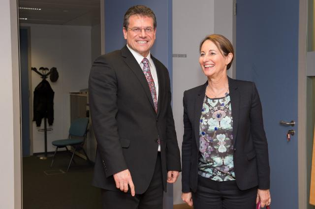 Visit of Ségolène Royal, French Minister for Ecology, Sustainable Development and Energy, to the EC