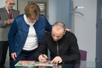 "Illustration of ""Visit of Dimitar Berbatov, Bulgarian professional football player, to the EC"""