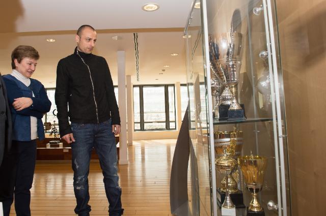 Visit of Dimitar Berbatov, Bulgarian professional football player, to the EC