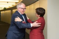 Visite d'Astrid Thors, Haut commissaire de l'OSCE pour les minorités nationales, à la CE