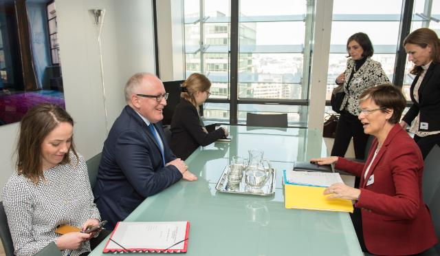 Visit of Astrid Thors, High Commissioner on National Minorities of the OSCE, to the EC