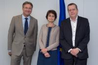 Visite de Pierre Cuppens, vice-président de la commission Construction de la FETBB, et Maxime Verhagen, vice-président de la FIEC, à la CE