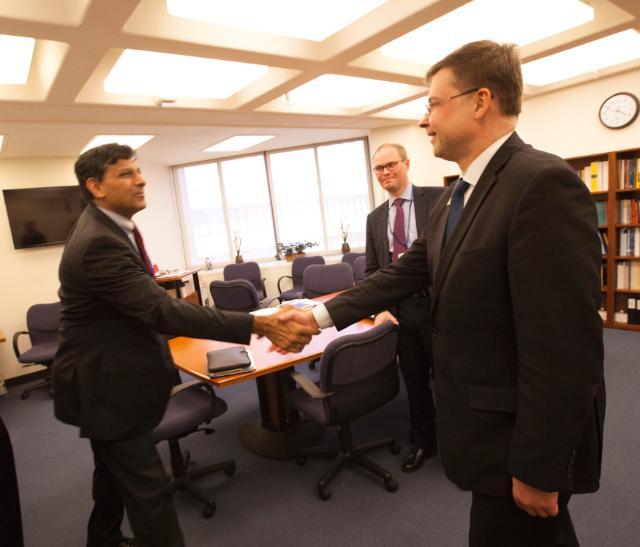 Visite de Valdis Dombrovskis, vice-président de la CE, aux États-Unis