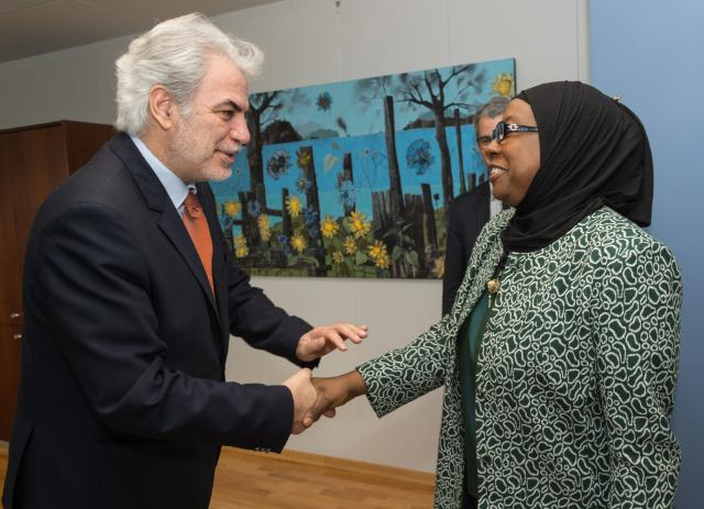 Visit of Aisha Laraba Abdullahi, Member of the Commission of the African Union (AU) in charge of Political Affairs, to the EC