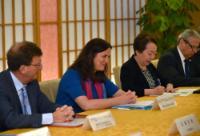 """Illustration of """"Visite de Cecilia Malmström, membre de la CE, au Japon"""""""