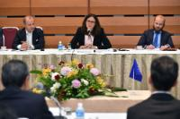 Cecilia Malmstrom at the meeting with Committee on Promotion of Economic Partnerships of Keidanren ( Japan Economic Federation)