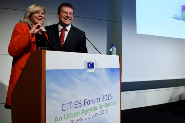 Participation of Maroš Šefčovič, Vice-President of the EC, and Corina Creţu, Member of the EC, in the European CITIES Forum