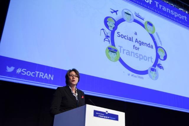 High level conference 'A Social Agenda for Transport', with the participation of Violeta Bulc, Member of the EC