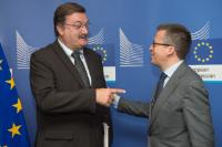 Visite de Carlos Silva, secrétaire général du syndicat portugais 'UGT', à la CE