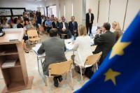 Visite de Federica Mogherini, vice-présidente de la CE, à Chypre