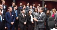 Carlos Moedas, membre de la CE, reçoit un groupe de jeunes diplomates portuguais