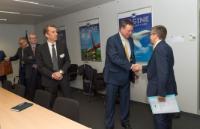 Visite de Peder Holk Nielsen, PDG de Novozymes, à la CE