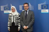 Visit of Amal Al Qubaisi, President of the Emirian FNC, and Antonio López-Istúriz White, Member of the EP, to the EC