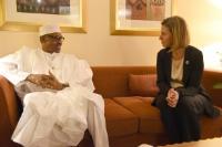 Visite de Federica Mogherini, vice-présidente de la CE, au Nigeria