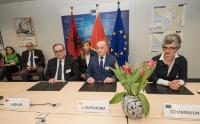 Ceremony initialing the transport Community Treaty with the Western Balkans