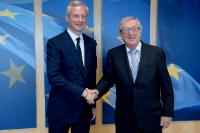 Visite de Bruno Le Maire, ministre français de l'Économie, à la CE