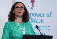 Cecilia Malmström, Member of the EC, at the International forum on women and trade