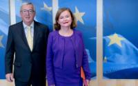 Visite de Nathalie Loiseau, ministre française chargée des Affaires européennes, auprès du ministre de l'Europe et des Affaires étrangères, à la CE
