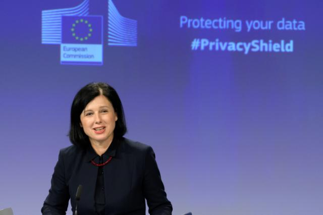 Press conference of Vĕra Jourová, Member of the EC, on the Privacy Shield first annual review report