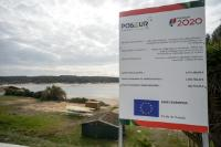 Information panels on the European programs PROMAR and POSEUR of the European Fisheries Fund (EFF), in Portugal