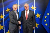 Visite de Tony Blair,ancien Premier ministre britannique, et président exécutif de l'Institute for Global Change, à la CE