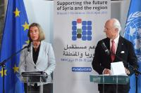 Bilateral meeting between Federica Mogherini, Vice-President of the EC, and Staffan De Mistura, Special Envoy of the United Nations for Syria