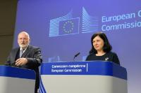 Press conference of Frans Timmermans, First Vice-President of the EC, and Vĕra Jourová, Member of the EC, on the company law package