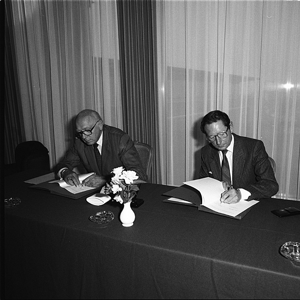 Signing of an agreement on nuclear fusion between the EURATOM and Canada