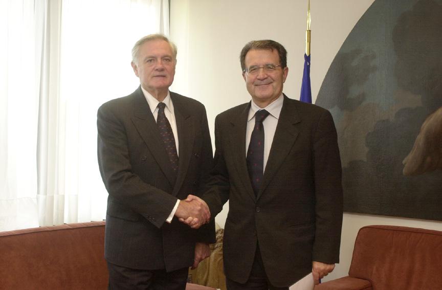 Visite de Valdas Adamkus, président de la Lituanie, à la CE