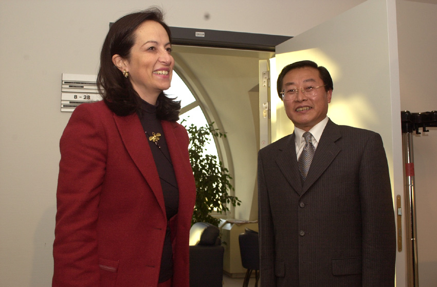 Visit of Zhang Zhuoji, Chinese Minister for Employment and Social Affairs, to the EC