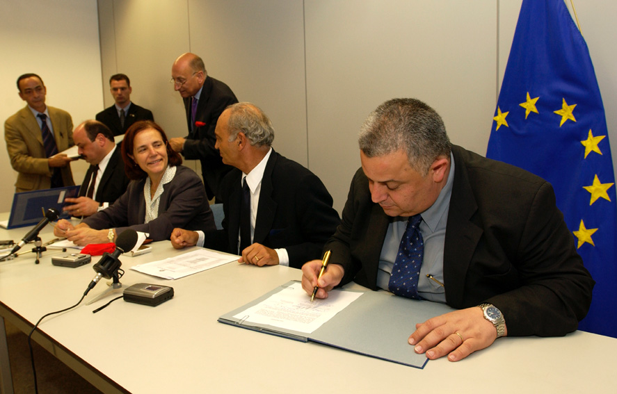 Visit of Azzam Shawwa, minister of the Palestinian Authority, and Joseph Paritzky, Israeli Minister, to the EC