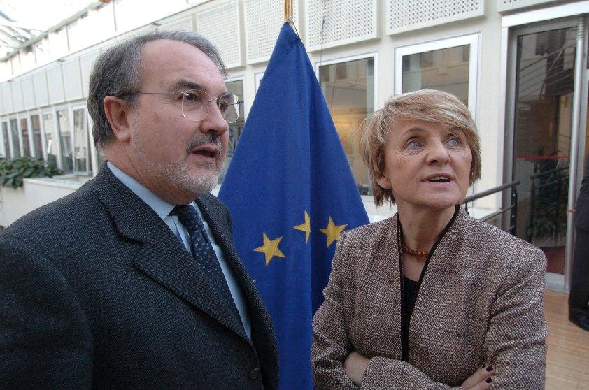 Visite de Danuta Hübner, ministre polonaise des Affaires européennes, à la CE
