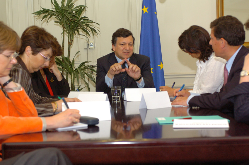 Visit of José Manuel Barroso, Ján Figel' and Margot Wallström, to Paris