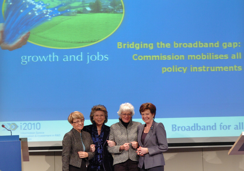 Joint press conference by Viviane Reding, Danuta Hübner, Neelie Kroes and Mariann Fischer Boel, Members of the EC, on Broadband for all Europeans