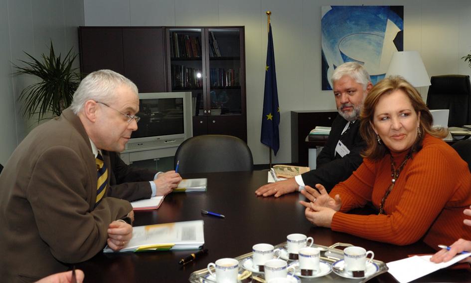 Visite d'Ana Teresa Aranda Orozco, ministre mexicaine, et de Patrus Ananias de Souza, ministre brésilien, à la CE