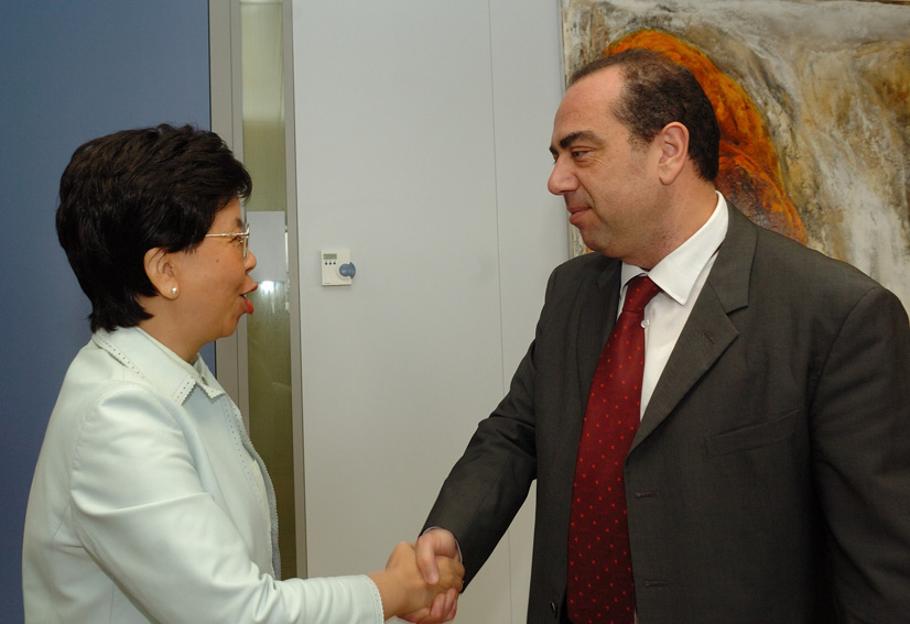 Visit by Margaret Chan, Assistant Director-General of WHO, to the EC