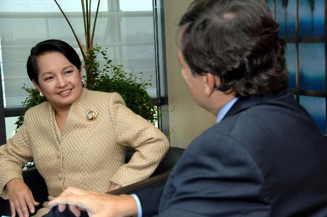 Visite de Gloria Macapagal-Arroyo, présidente des Philippines, à la CE