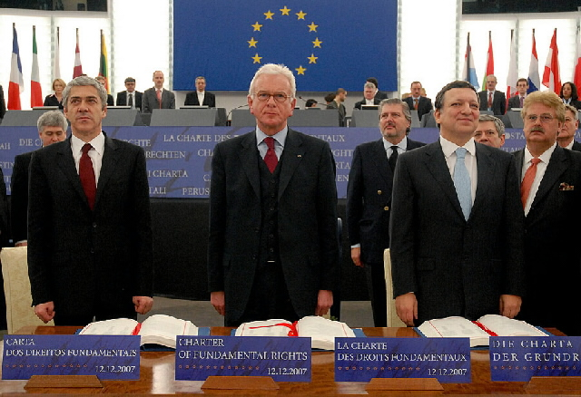 Signature of the Charter of Fundamental Rights of the EU
