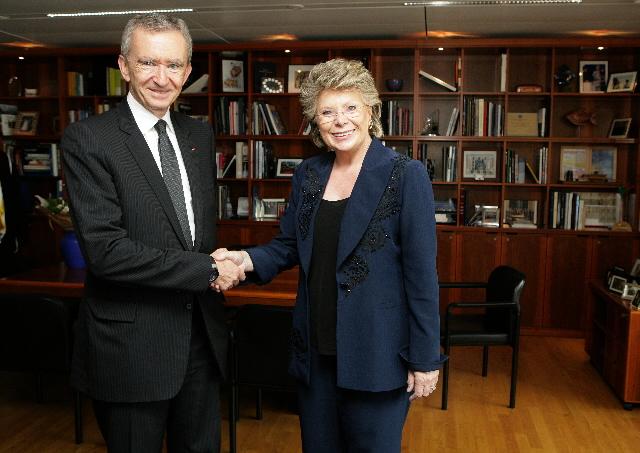 Visit of Bernard Arnault, CEO of LVMH, to the EC
