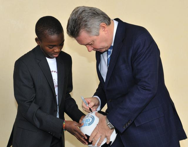Launch of the campaign United Against Malaria in the presence of Karel De Gucht