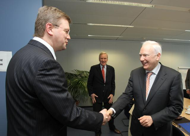 Visit of Philippe Maystadt, President of the EIB, to the EC