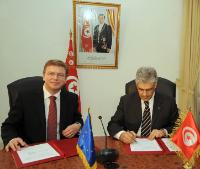 Visite de Štefan Füle, membre de la CE, en Tunisie