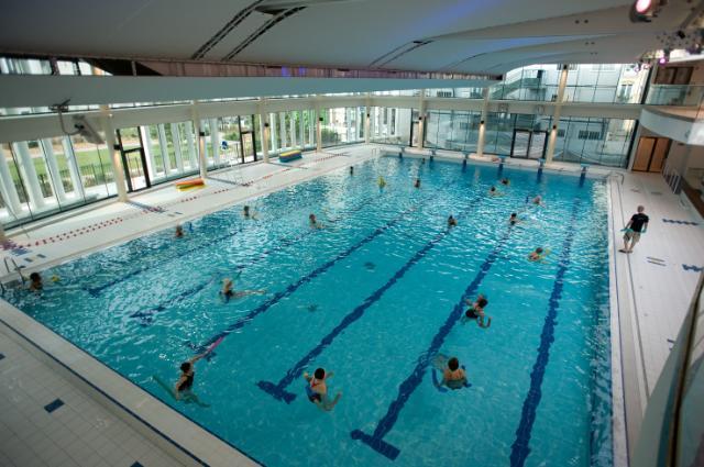 The aquatic center of Levallois