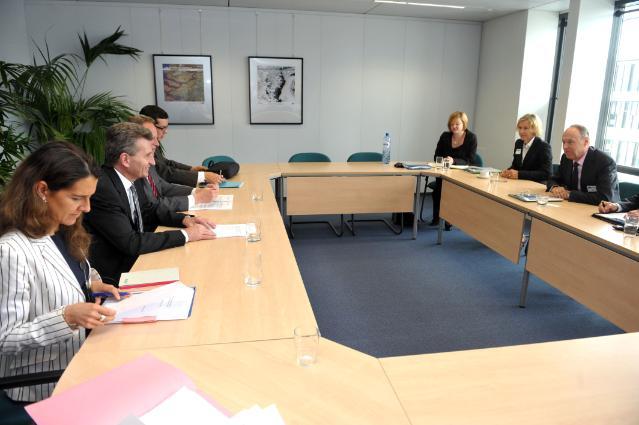 Visite de représentants de la société OMV, à la CE