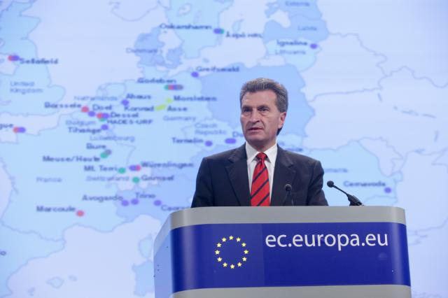 Press conference by Günther Oettinger, Member of the EC, on radioactive waste management