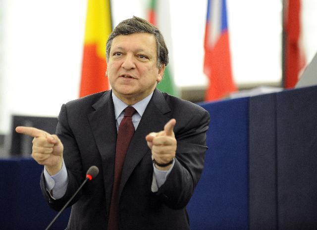 Participation de José Manuel Barroso, président de la CE, à la session plénière du PE
