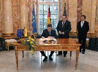 Visite de José Manuel Barroso, président de la CE, au Bade-Wurtemberg