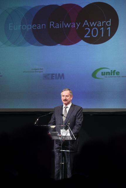 Participation of Siim Kallas, Vice-President of the EC, at the European Railway Award 2011 Ceremony