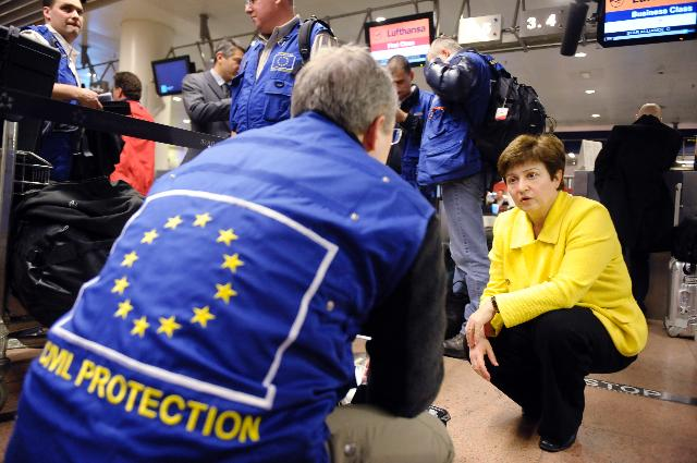 Departure of the team of civil protection experts for Japan, accompanied by Kristalina Georgieva, Member of the EC
