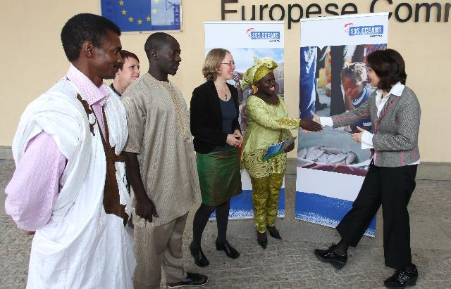 Visit of a delegation of African coastal fishermen and representatives from Greenpeace in Africa to the EC